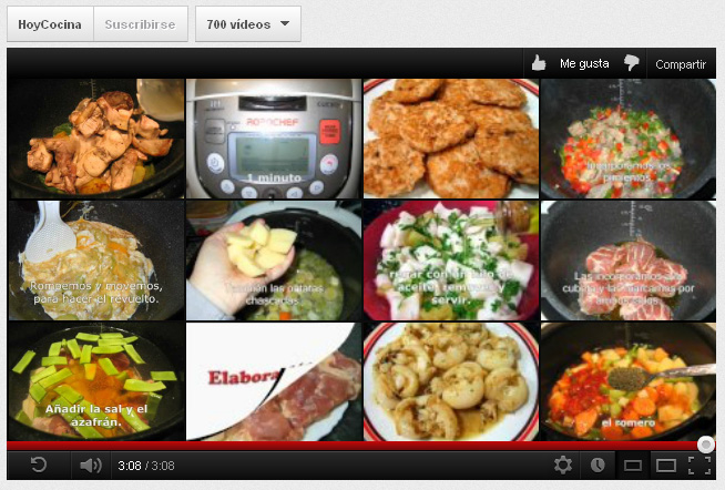 700 v deos de recetas paso a paso en youtube robochef - Youtube videos de cocina ...