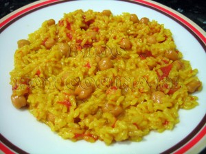 Arroz garbanzos